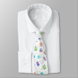 Pastel Floral Watercolor Illustrations Typography Tie