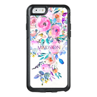 Pastel Floral Watercolor Pattern OtterBox iPhone 6/6s Case