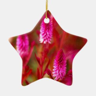 Pastel Flower Ceramic Ornament