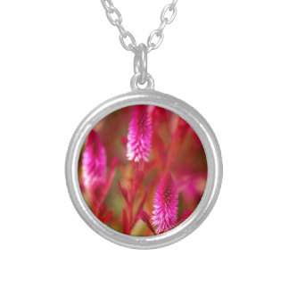 Pastel Flower Silver Plated Necklace