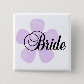 Pastel Flowers Lilac Bride Tshirts and Gifts 2 Inch Square Button
