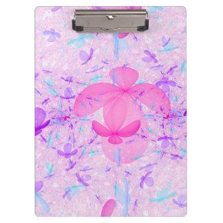 Pastel Fractal Flowers Clipboard