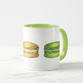 Pastel French Bakery Macaron Cookie Pastry Baking Mug