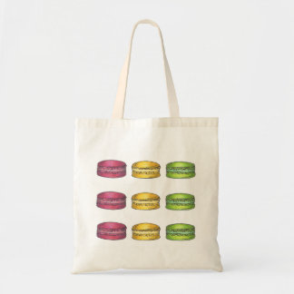 Pastel French Macaron Cookie Cookies Tote Bag