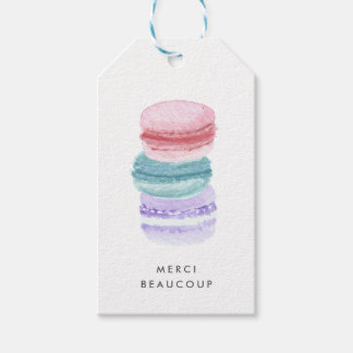 Pastel French Macarons Thank You Gift Tags