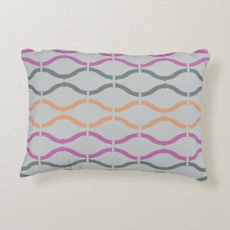 Pastel Funky Retro Geometric Pattern 43 Accent Pillow
