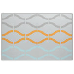 Pastel Funky Retro Geometric Pattern Fabric