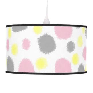 Pastel Fuzzy Polka Dots Pattern Pendant Lamp