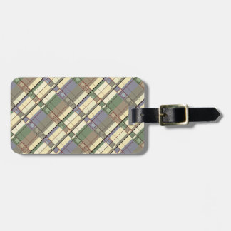 Pastel Geometric Abstraction Art Luggage Tag