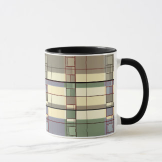 Pastel Geometric Abstraction Art Mug