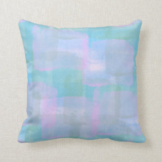 Pastel Geometric Lines Throw Pillow