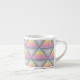 Pastel Geometric Triangles Lines Espresso Mug