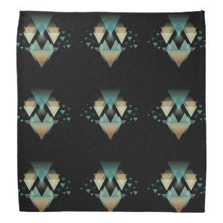 Pastel Geometrical Forms On Black Bandana