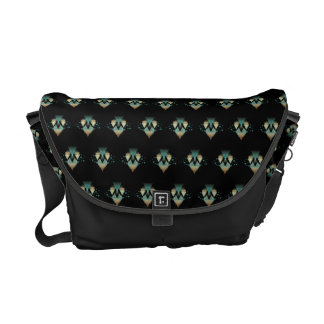 Pastel Geometrical Forms On Black Commuter Bag
