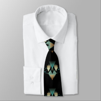 Pastel Geometrical Forms On Black Tie