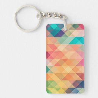 Pastel Geometry Keychain