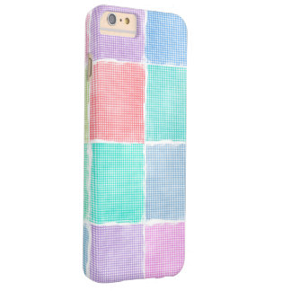 pastel gingham patchwork blocks barely there iPhone 6 plus case