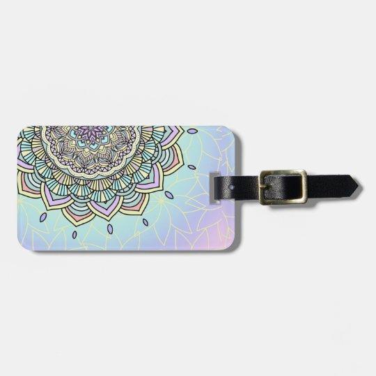 Pastel Glow Mandala ID359 Bag Tag