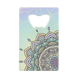 Pastel Glow Mandala ID359 Credit Card Bottle Opener