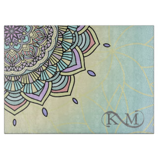 Pastel Glow Mandala ID359 Cutting Board