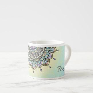 Pastel Glow Mandala ID359 Espresso Cup