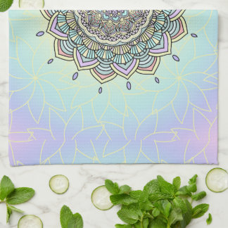 Pastel Glow Mandala ID359 Kitchen Towel