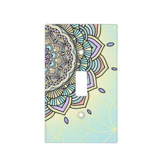 Pastel Glow Mandala ID359 Light Switch Cover