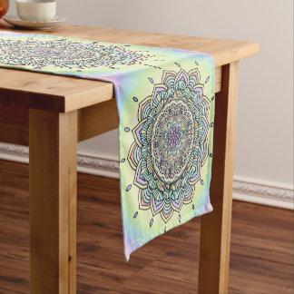 Pastel Glow Mandala ID359 Short Table Runner