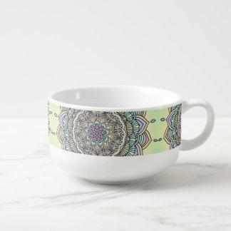Pastel Glow Mandala ID359 Soup Mug