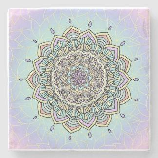 Pastel Glow Mandala ID359 Stone Coaster