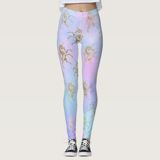 Pastel Golden Unicorn Leggings