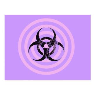 Pastel Goth Bio Hazard Graphic Art Post Card
