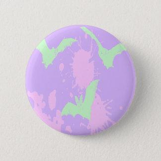 Pastel Goth Blood Vampire Bats 2 Inch Round Button