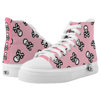 Pastel Goth Pirate Rockabilly Jolly Roger High Tops