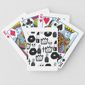 pastel goth, queen, horror, terror, gothic, femini bicycle playing cards