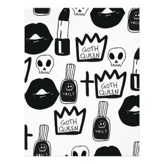 pastel goth, queen, horror, terror, gothic, femini letterhead