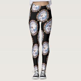Pastel Goth Skeleton Woman Leggings