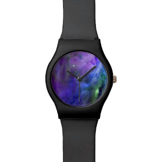 Pastel Goth Space Nebula Wrist Watch