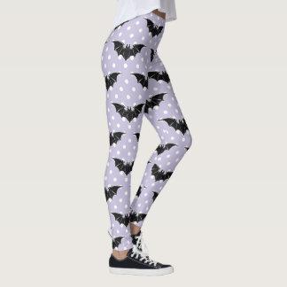 Pastel Goth Spooky Cute Bats Kawaii Leggings