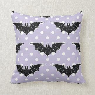 Pastel Goth Spooky Cute Throw Pillow Bats Kawaii