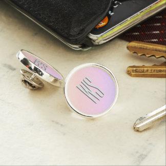 Pastel Gradient Monogram Lapel Pin