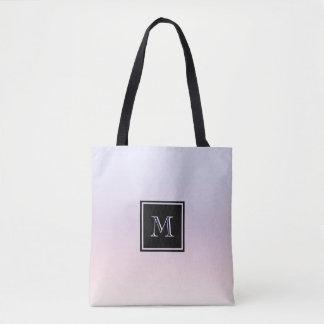Pastel Gradient Monogram Tote Bag