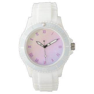 Pastel Gradient Pink Numeral Watch