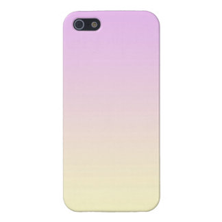 Pastel Gradient Purple to Yellow Gradation Colour Case For The iPhone 5