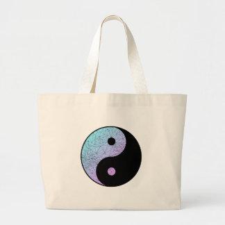 Pastel Gradient Yin Yang Large Tote Bag