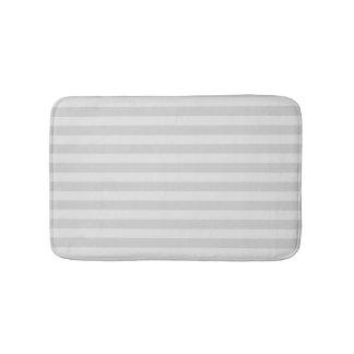Pastel Gray Striped Bath Mats