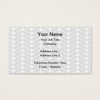Pastel Gray Zigzag Pattern inspired by Knitting. Business Card
