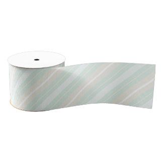 Pastel Green, Blue, and Gray Striped Ribbon Grosgrain Ribbon