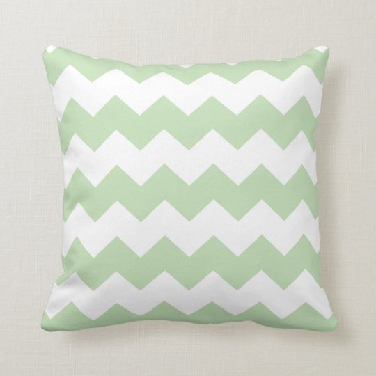 Pastel Green Chevron Cushion