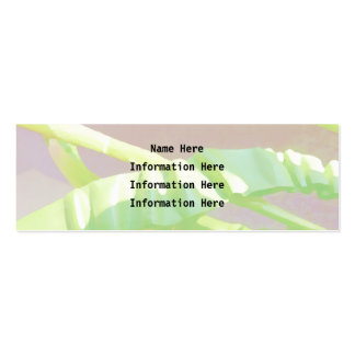 Pastel Green Leaves. Business Card Template